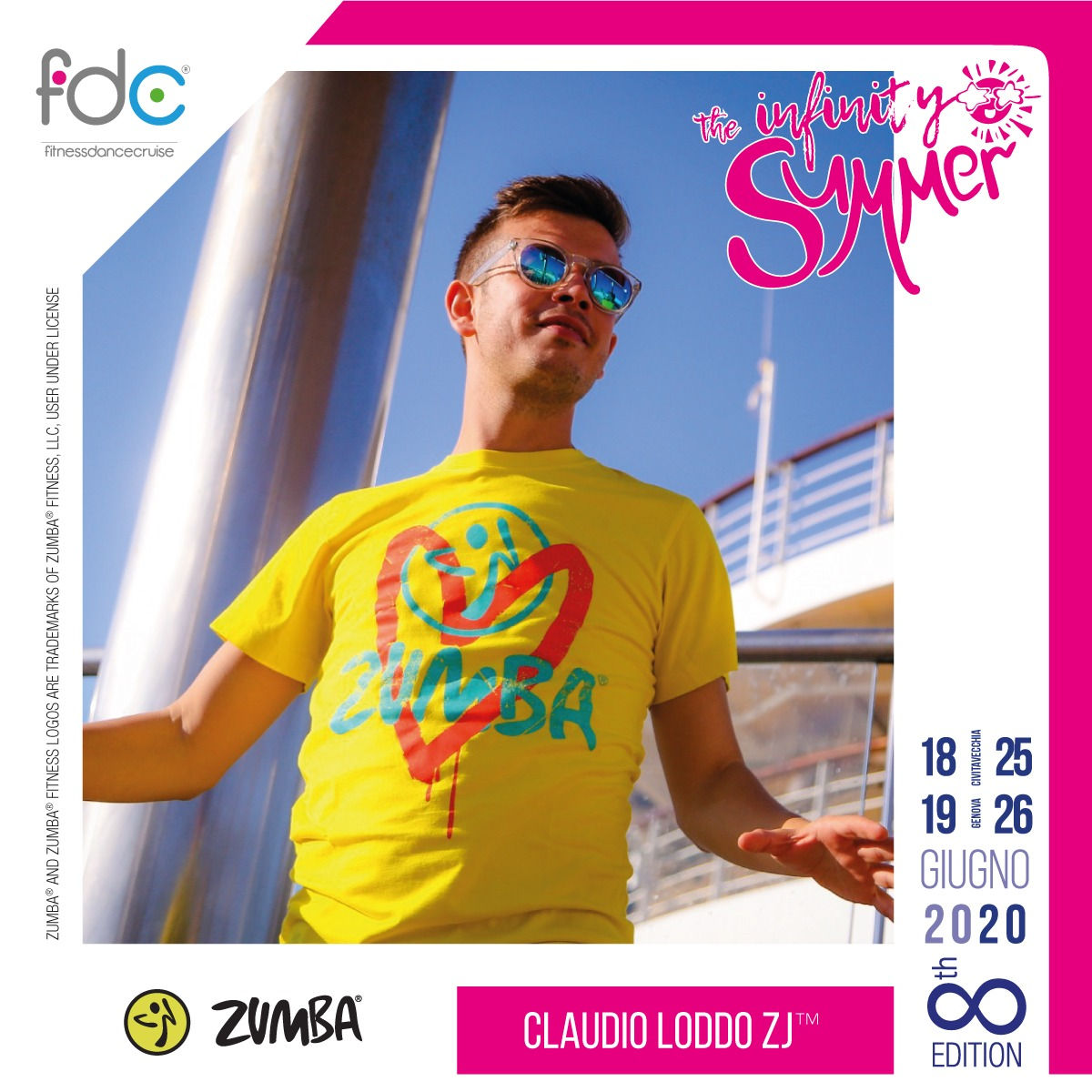 Zumba FDC Presenter Claudio Loddo